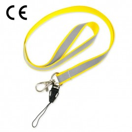 Smycz odblaskowa - kolor żółty - S-024