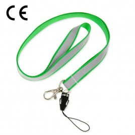 Smycz odblaskowa - kolor zielony - S-034