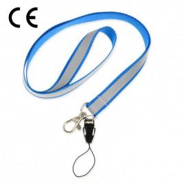 Smycz odblaskowa - kolor niebieski - S-021