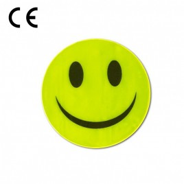 Reflective sticker - smiling face