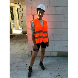 Светоотражающий жилет для взрослых YoYo-201/2P/P/S, сетка (оранжевый)