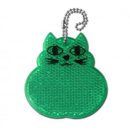 Rigid reflector on a chain / snap hook -  cat ZT-11
