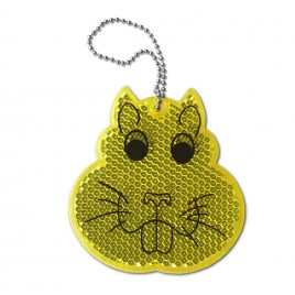 Rigid reflector on a chain / snap hook  - hamster ZT-12
