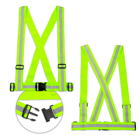 Reflective braces for adults - cyclists and motorcyclists